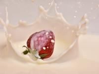 fraise au lait