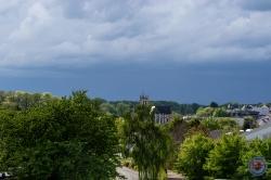 Françoise F. - Ciel d'orage, sur Changé, de ma fenêtre