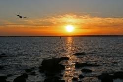 Soleil couchant baie de Concarneau