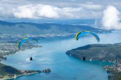 Vol au dessus du lac d'Annecy
