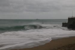 Tempête à Saint-Quay, en Bretagne