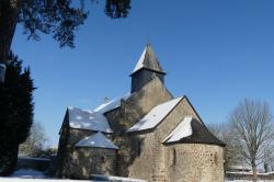 L'Eglise de Grenoux sous la Neige