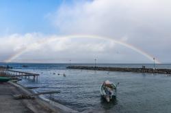 Arc en ciel sur le lac Léman