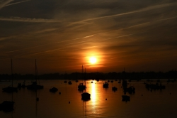 Coucher de soleil à Aradon_li