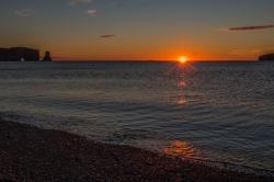 Lever soleil à Percé en Gaspésie