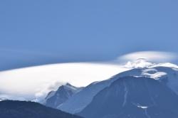 Nuages au-dessus du Mt-Blanc